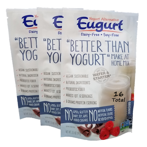 Eugurt 16 Pack - 96 servings (dairy-free and soy-free)