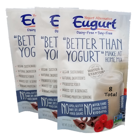 Eugurt 8 Pack - 48 servings (dairy-free and soy-free)